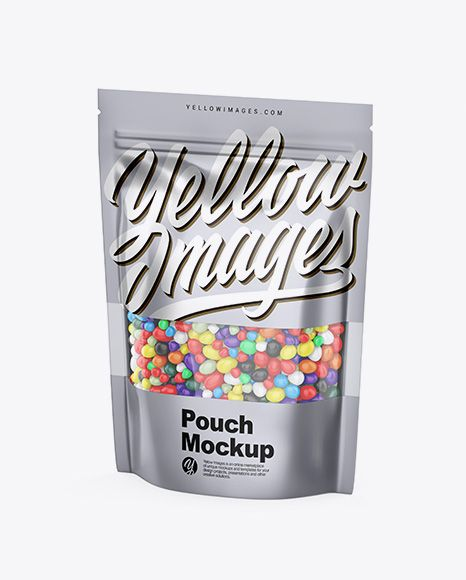 Download Download Metallic Stand Up Pouch With Candies Psd Mockup Half Side Viewtemplate In 2020 Free Psd Mockups Templates Mockup Free Psd Psd Mockup Template PSD Mockup Templates