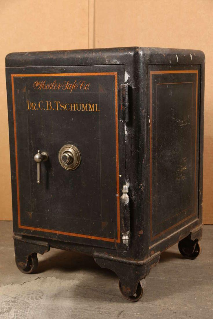 Vintage Industrial Cast Iron Mosler Safe Image 2 In 2019
