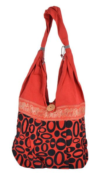 Reversible Bags – Vintage Red Cotton Beach Daily Use Tote Bag – a unique product by IndianCraftPalace on DaWanda