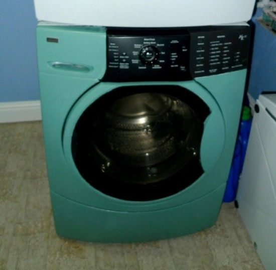 How to paint washer and dryer that will hold up over time | Offbeat Home