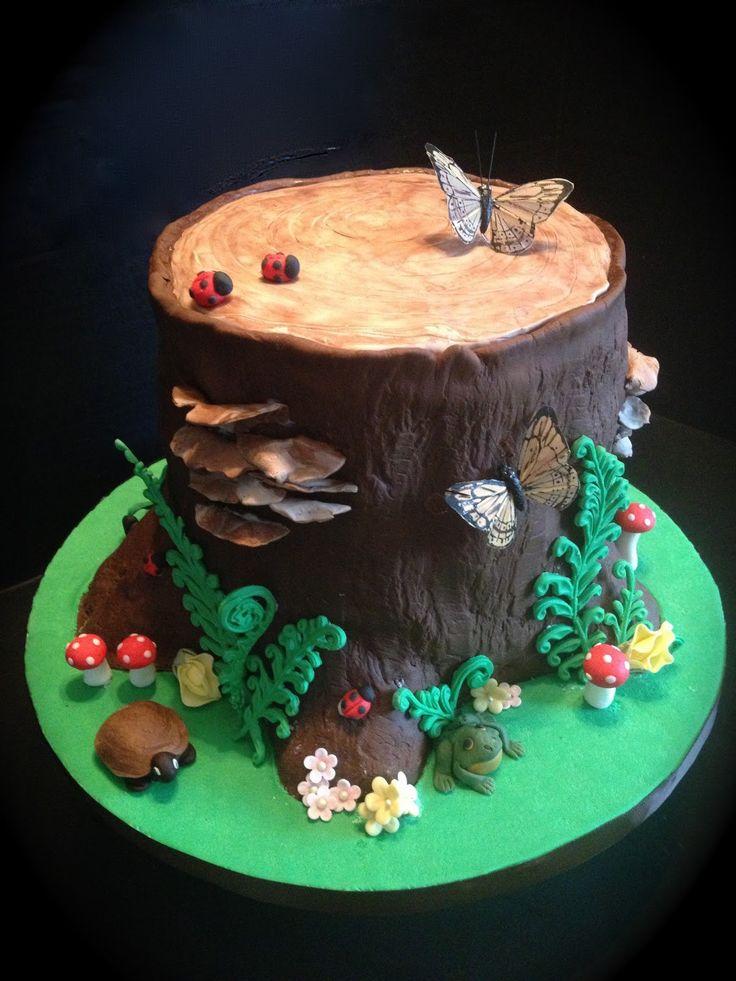 red woodland fairy cake | Pin Fondant Tutorial Woodland Toadstools Diy Cake on Pinterest