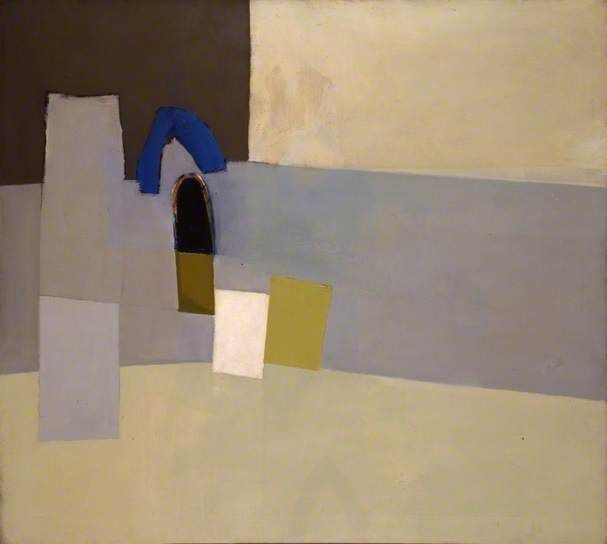 Aegean 1960 by John Keith Vaughan British Council Collection Date painted: 1960 Oil on canvas, 91.4 x 101.6 cm