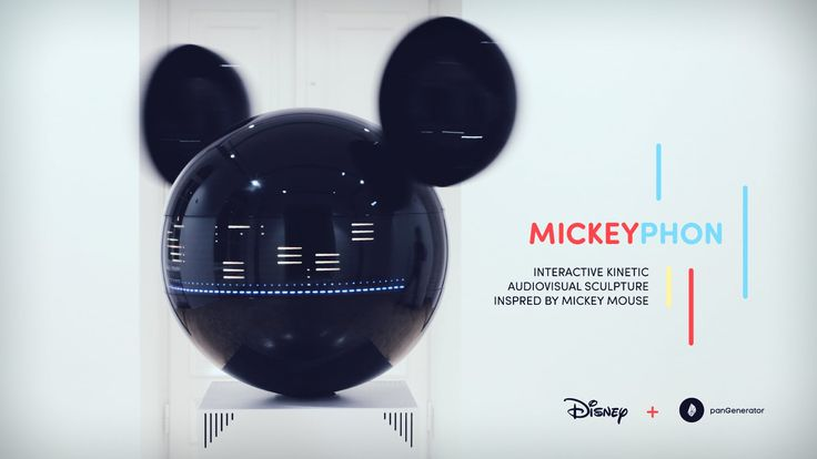 MICKEYPHON - kinetic av sculpture created for Disney