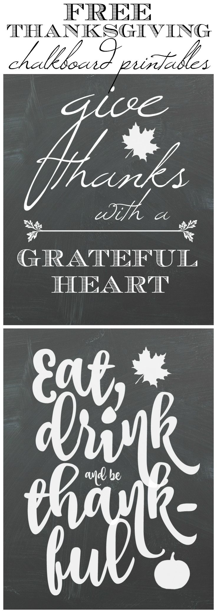 Fall Kitchen Tour & Free Thanksgiving Chalkboard Art Printables
