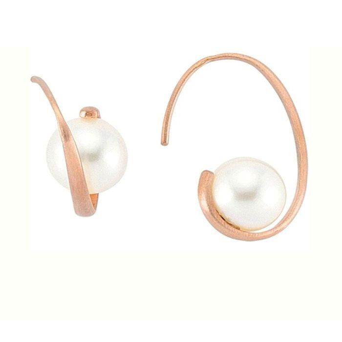 Pearly Ohrring - Rose Gold-Ohrring - Perlenohrring - Hoop-Ohrring - Mode Ohrring - Hochzeit Schmuck - Bridesmaid Gift - Pearl Drop Ohrring von NUUMUJEWELRY auf Etsy https://www.etsy.com/de/listing/209225690/pearly-ohrring-rose-gold-ohrring