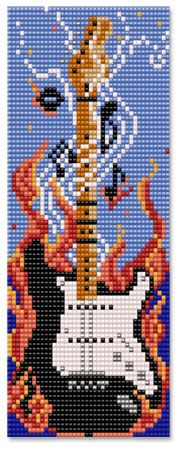 Why would u light a guitar on fire? It doesn't make sense! But it looks AweSome in a HaMa pearls version :D