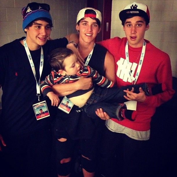 'we can't even hold a baby between the 3 of us, we'll be great fathers one day' - Luke