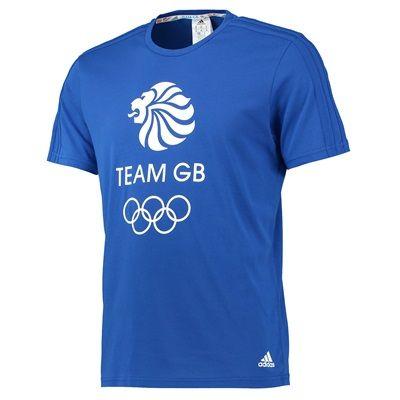 Team GB Big Logo Tee - Mens - Power Blue/White