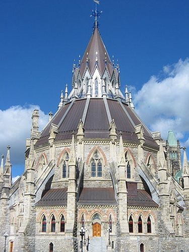 Parliament Library, Ottawa by scilit, via Flickr. The library was inaugurated in 1876.