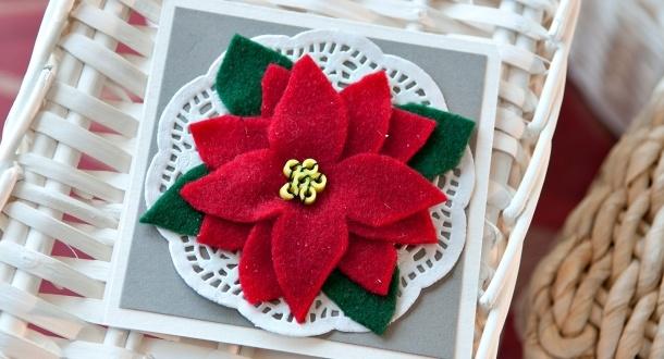 Joulutähtikortti