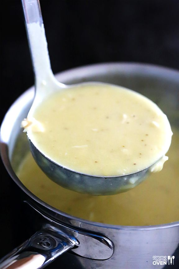 Homemade Cream of Chicken Soup -- perfect for soups and casseroles and SO easy to make homemade!   gimmesomeoven.com