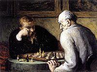 Honoré Daumier,Les Joueurs d'échecs (The chess players), 1863