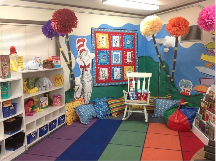 Another View Of My 2013 2014 Classroom Reading Area As You Can See It Is Dr Seuss Themed The