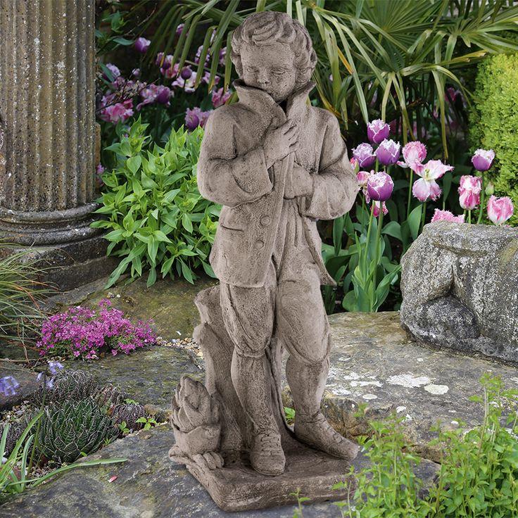 Gartenfigur 'Winter': Vier-Jahreszeiten-Figuren Antikisierter, frostfester Steinguss. - gefunden auf www.country-garden.de
