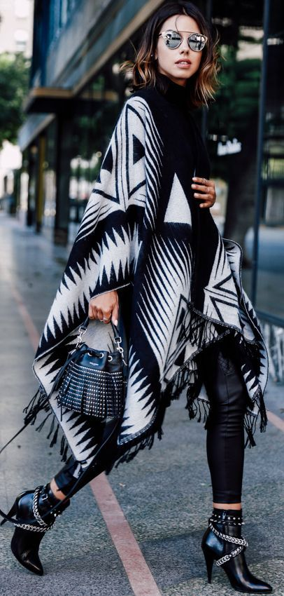 Top 25 ideas about Poncho Outfit on Pinterest
