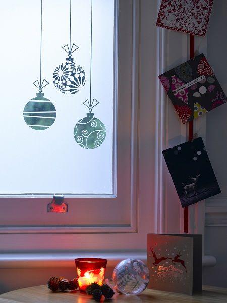 Xmas Spray Ideas Window Snow