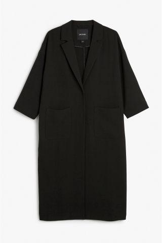 Monki Image 1 of Lightweight coat in Black