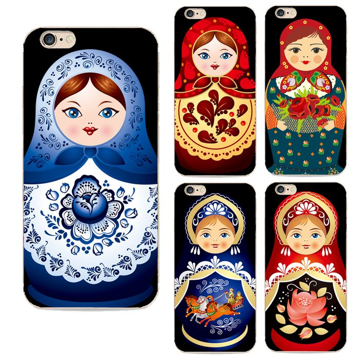 back cover for Apple iphone 6 case Lovely cartoon Russian dolls pattern painted case for iphone 6s cases TPU cover