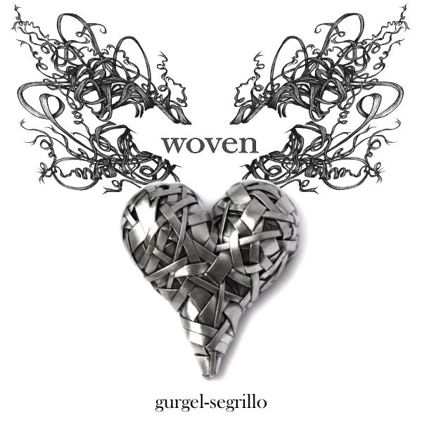 woven heart series of art jewellery - celebrating Love and our interconnectedness by Irish-Brazilian artist Gurgel-Segrillo