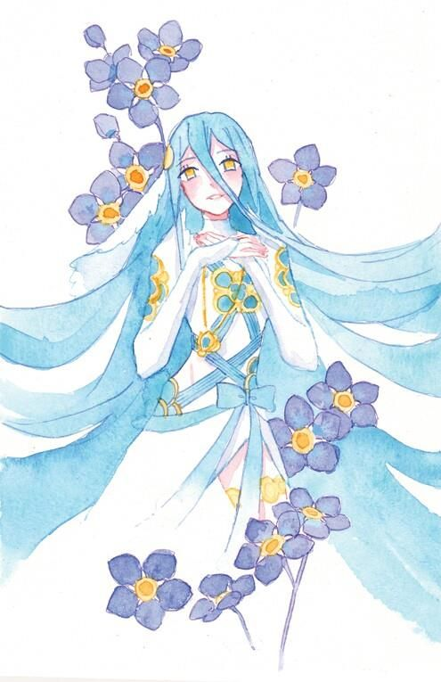 Fire Emblem: If/Fates - Aqua/Azura Watercolor Art