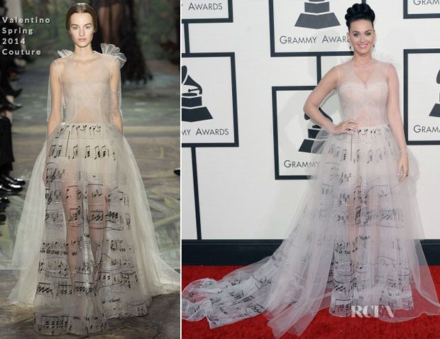 Katy Perry In Valentino Couture – 2014 Grammy Awards