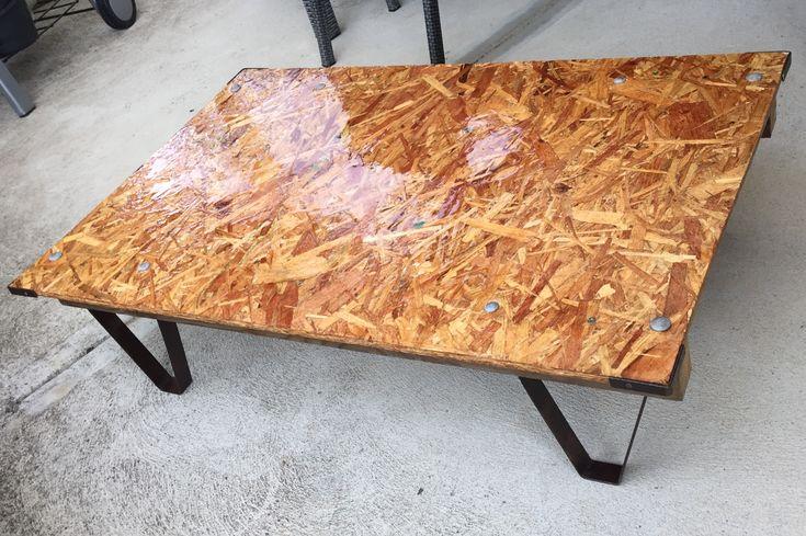 Epoxy resin coated coffee table by garagecustomssydney
