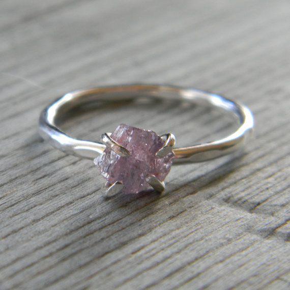 http://rubies.work/0328-sapphire-ring/ Lavender Raw Stone Engagement Ring #wedding, #weddings, #pinsland, https://apps.facebook.com/yangutu