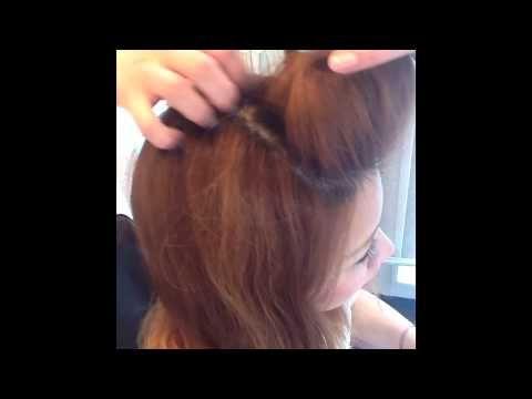 自分でできるポンパドールの作り方  シェリオンアレンジ - YouTube