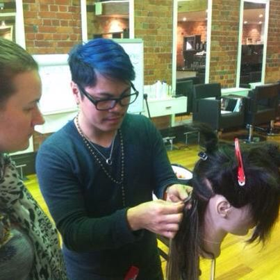 Great Lengths Hair Extensions  Educator for Victoria (teaching a class)