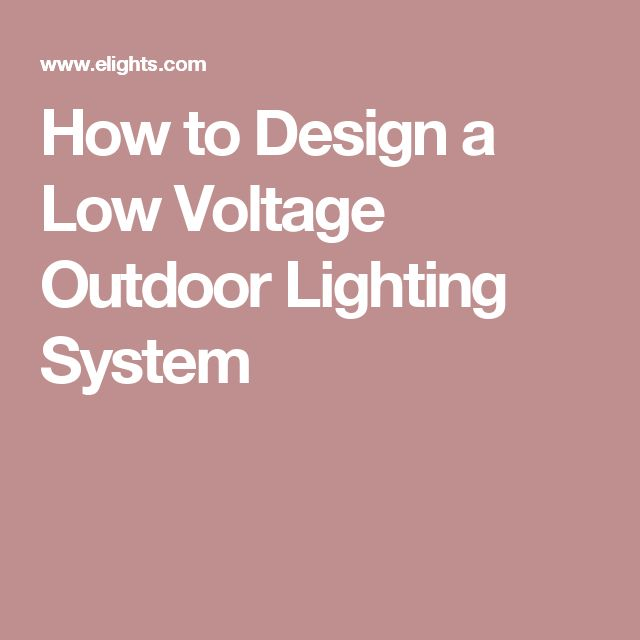 Low Voltage Landscape Lighting Systems : Best ideas about low voltage outdoor lighting on
