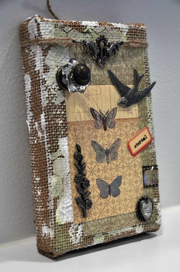 Tim Holtz's Burlap Panels Projects - Joggles.com