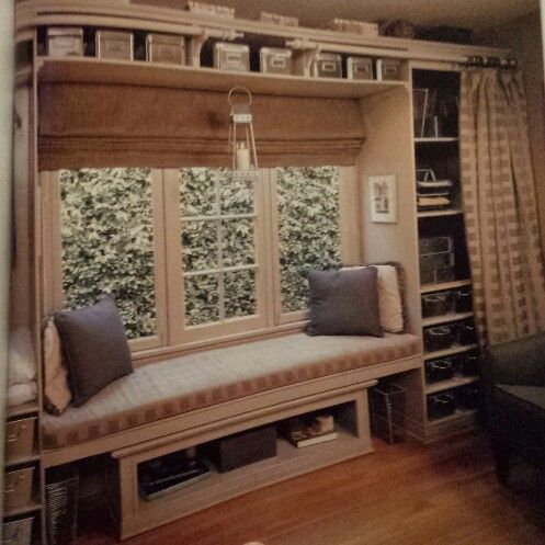 Love the shelf above the window seat