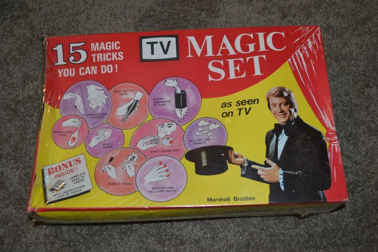 Vintage Original Marshall Brodien Tv Magic Set 15 Tricks