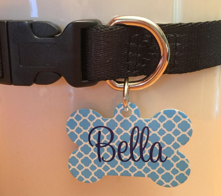 JUMBO Monogrammed Dog Tag- Large Personalized Pet Tag  – Pet ID Tags – Custom Pe… – Pets: Tags, Mats, & Stuff