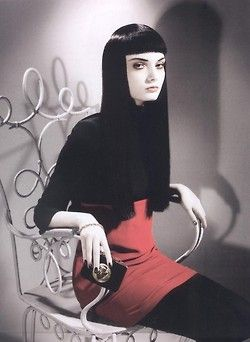 60s Witch. A GREAT Beatnik Look, and LOOK...She's Ironed Her Hair!