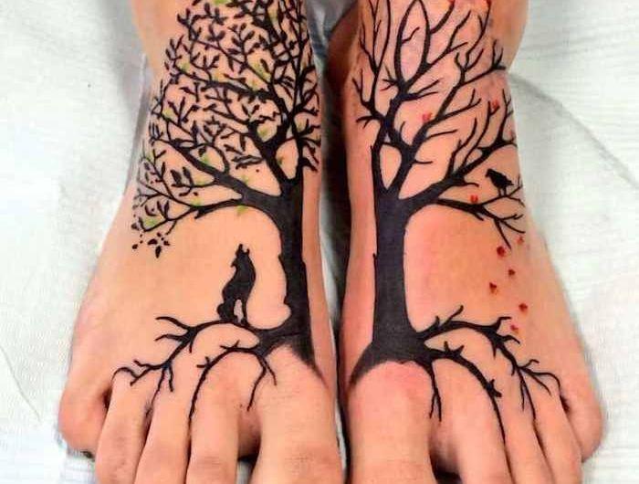 1001 Ideen Fur Lebensbaum Tattoo Zum Inspirieren Und Entlehnen Tree Of Life Tattoo Life Tattoos Tree Tattoo Foot