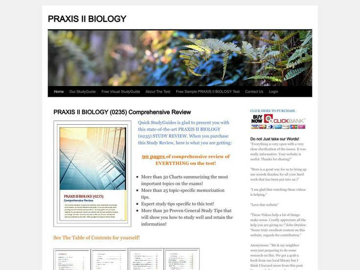 Praxis: For Test Takers: Biology: Content Knowledge