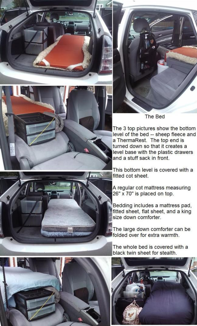 Living Out of a Prius By Suanne February, 2011 First, I want to say thanks to Bob for asking me to share how I live out of my car. I referenced this site (cheaprvliving.com) a lot when I was in planning mode. For me, living…Read more ›