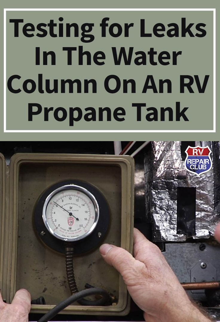 If you've noticed that your motorhome smells of that distinctive propane odor and detected a leak in your RV propane tank system, it's very important that you know how to first manage and fix the leak and then properly test the unit to see that it's ready to be filled again. To teach you the proper method for checking an RV propane tank for leaks, Dave Solberg and a certified expert demonstrate an example of a water column test.