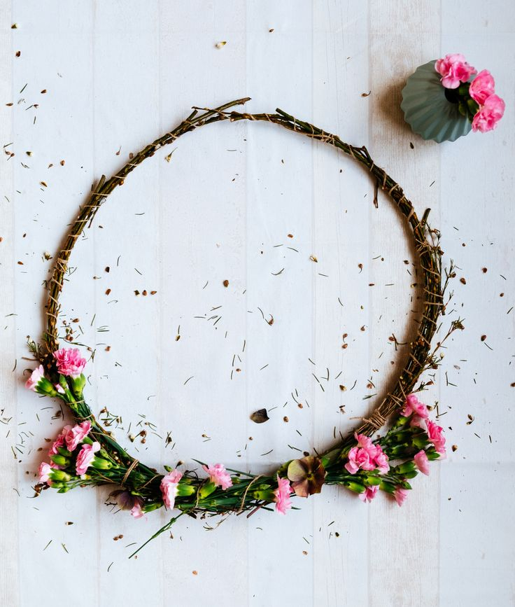 krans maken- flower wreath diy- flower decoration- making wreath- krans maken- http://www.mylucie.com