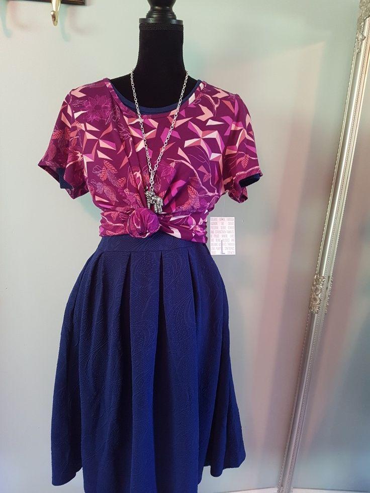 Amelia dress matched with a bold classic. Lula Roe happiness.