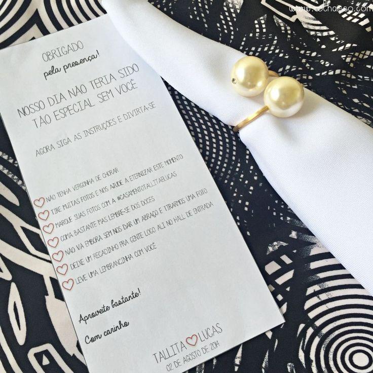 cartão agradecimento para casamento mesa de convidados como fazer