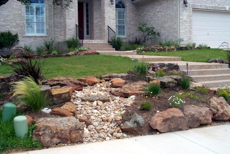 38 best images about dry creek bed on pinterest for Landscaping rocks austin