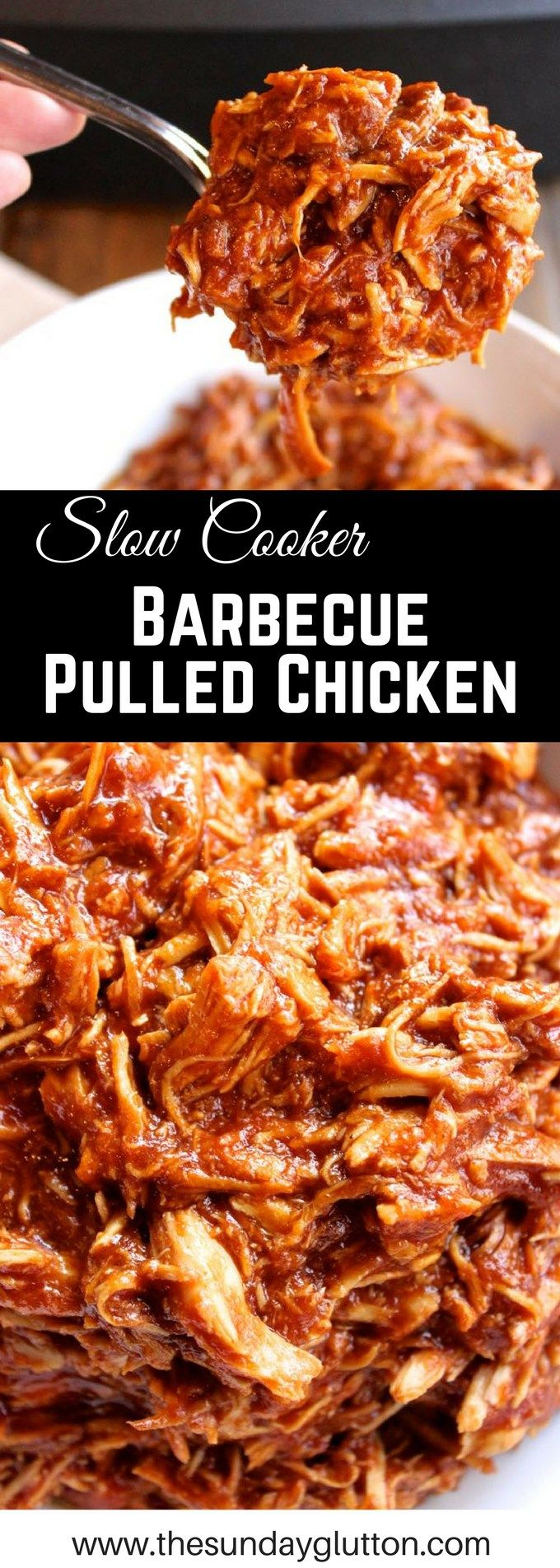 This Slow Cooker Pulled Barbecue Chicken is a true kitchen workhorse with just 3 simple ingredients and endless possibilities.