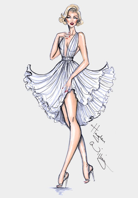 #Hayden Williams Fashion Illustrations #Happy Birthday Marilyn! By Hayden Williams