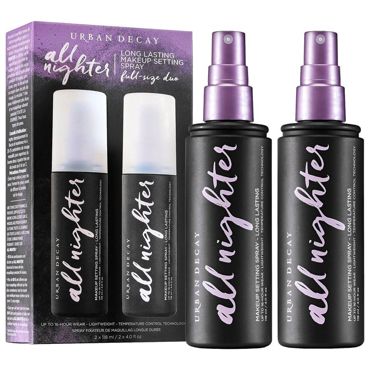 Urban Decay All Nighter Makeup Setting Spray Duo (With