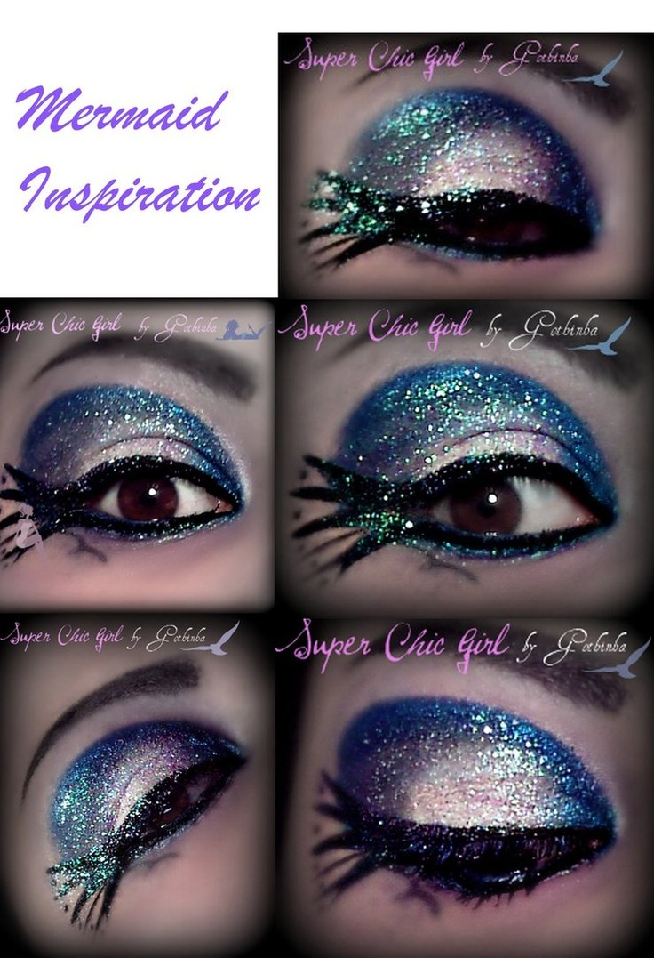 """Mermaid Tail"" inspired eyeshadow, eyeliner, and (most importantly) sparkles!!: Makeup Nails, Beauty Tips, Inspired Eyeshadow, Beauty Ideas, Mermaid Eyes, Mermaids, Makeup Hair, Inspiring Ideas, Mermaid Tail"