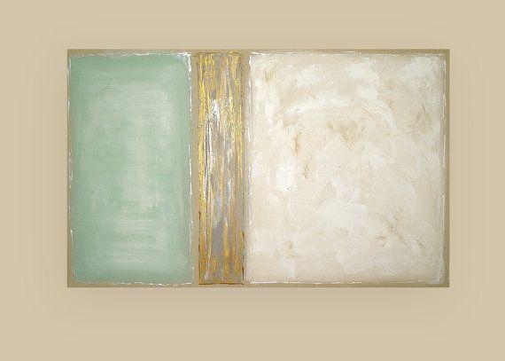 Shabby Chic Modern Acrylic Abstract Painting on by OraBirenbaumArt, $425.00