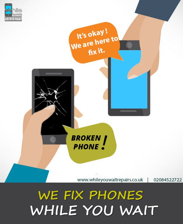 WE FIX PHONES WHILE YOU WAIT WE BRING YOUR MOBILE SCREENS BACK TO LIFE Visit our website:  https://goo.gl/r6p1N9 Book Your Slot https://goo.gl/ZSOlHL Our Address : While You Wait Repairs AJP Business Centre 152-154 Coles Green Road London NW2 7HD Phone : 020-845-22722
