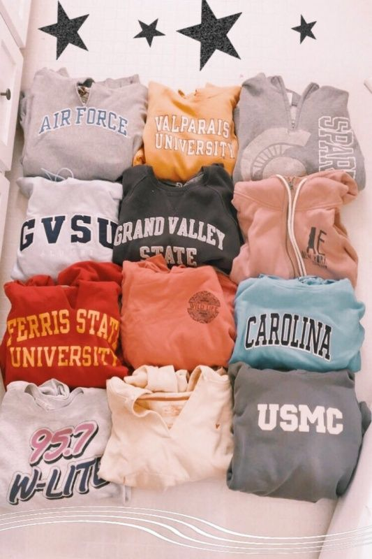 VSCO - Thrifted 10 out of these 12 sweatshirts lol | rubiejane9 1